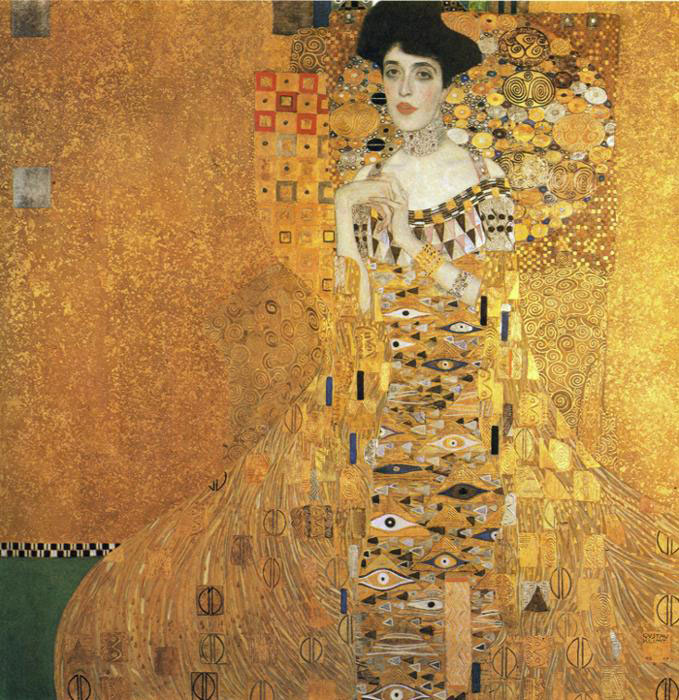 Густав Климт (Gustav Klimt). Портрет Адели Блох-Бауэр I (Portrait of Adele Bloch-Bauer I)