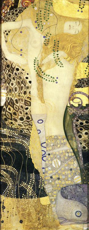 Густав Климт (Gustav Klimt). Водная змея (Watersnakes)