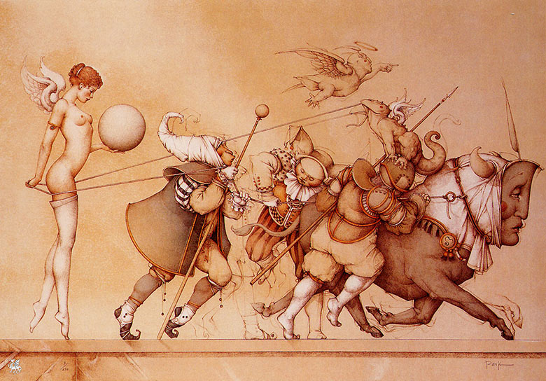 Майкл Паркес (Michael Parkes). Возвращение сферы (Returning the Sphere)
